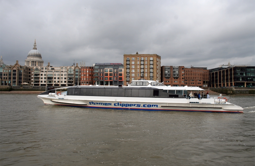 Greg Hands discusses Improvements to Thames Clippers Services