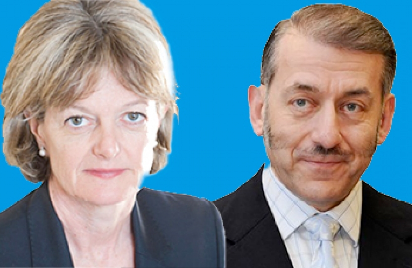 Left: Cllr Elizabeth Campbell.  Right: Cllr Joe Carlebach.