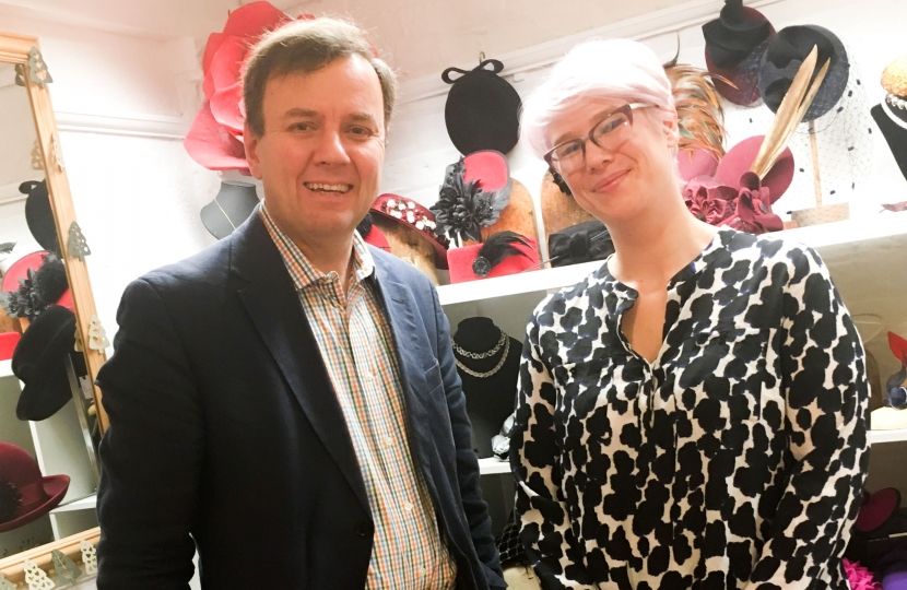 "Greg Hands MP visiting Fulham Road shops as part of ""Small Business Saturday"" recently."