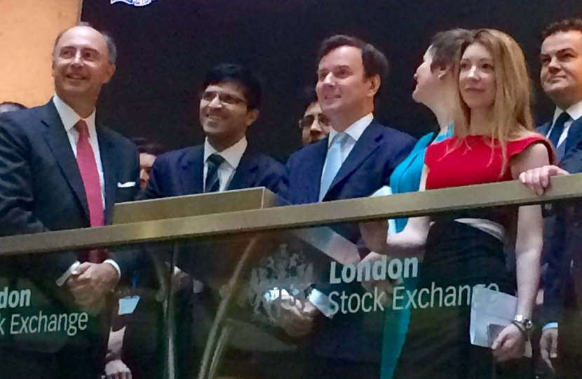Greg Hands MP opening trading on the London Stock Exchange, 26/2/2016.