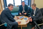 Greg Hands MP with officials from Transport for London discussing Sadiq Khan's proposed bus route cuts in the constituency. The cuts will mean the end of the 11 bus down Kings Road and the 19 bus entirely.