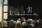 Greg taking questions at Heathrow public meeting